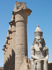 Luxor Temple (Grand-Poobar) Tags: africa old travel sky people color building history tourism archaeology monument up statue rock stone sphinx architecture wonder outdoors temple photography ancient ruins exterior close desert pyramid image african capital tomb ruin egypt cities culture landmark nile clear international cairo camel egyptian obelisk pharaoh civilization series pyramids column strength luxor endurance past majestic archaeological camels civilisation giza leadership tombs thebes destinations rameses jonpym