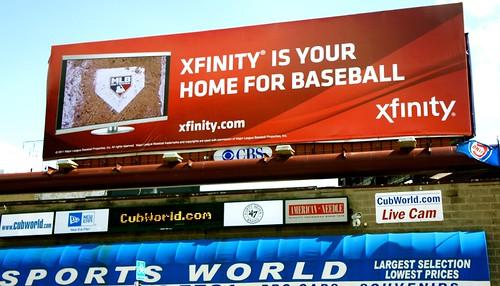 Wrigley Field Xfinity Billboard