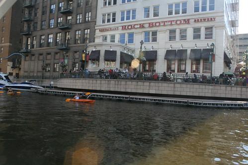 Rock Bottom Brewery Patio and Milwaukee River Kayaks