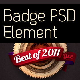 Badge Web Element UI PSD Design