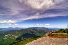 View from Cascade Mountain (Micha67) Tags: trees mountain nature clouds forest airplane landscape michael nikon view micha newyorkstate keene adirondack schaefer d300 cascademountain highpeaks ptf viewfromcascademountain