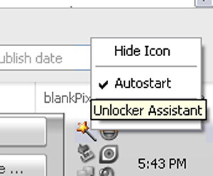 You can set the Unlocker Assistant to start automatically or not - blankpixels.com