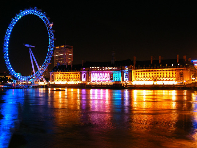 London Eye & County Hall at night