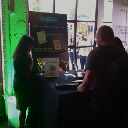 ScanSnap Representing At Evernote Trunk Conference