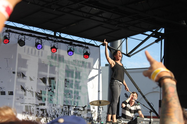 Matt and Kim  @ Sunset Strip Music Festival 2011