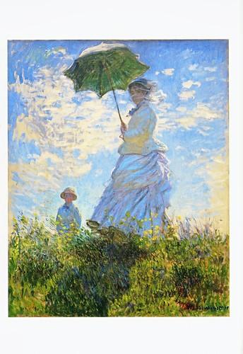 ★ポストカード②モネ「日傘の女性、モネ夫人と息子」1875年 by Poran111