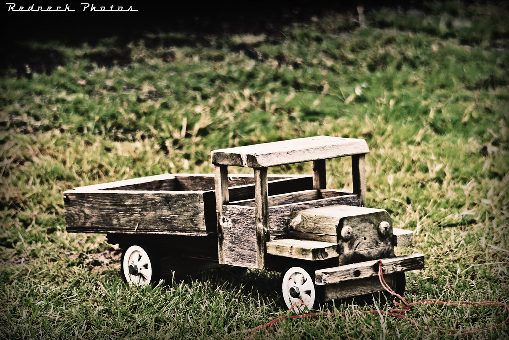 Homemade Wood Toy Trucks