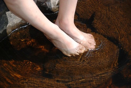 getting the tootsies wet...