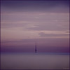 """""""Don't be pushed by your problems. Be led by your dreams."""" (idgie.) Tags: sunset sea sky blur clouds canon evening coast twilight soft purple dusk dream lancashire dreamy mast hue blackpool antenna fylde eos450d"""