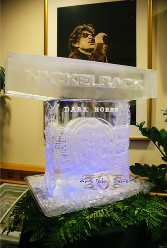 Nickelback Dark Horse Tour ice sculpture