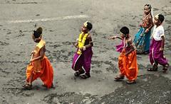 Janmashtami (aprna) Tags: girls people india boys goa dressedup celebration procession krishna radha panaji 2011 krishnajayanthi janmashatmi