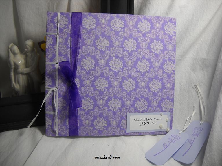 Lavendar Rose Bridal Shower Guest Book