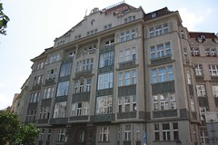 "Decorative house in Jewish Quarters of Prague (Prag/Praha) • <a style=""font-size:0.8em;"" href=""http://www.flickr.com/photos/23564737@N07/6083162632/"" target=""_blank"">View on Flickr</a>"