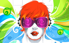 [Free Image] Graphics, Illustration, People (Illustration), Headphone/Earphone, 201108312300