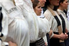 An enviable position (slawekkozdras) Tags: street uk travel people girl festival vintage scotland edinburgh breast fringe clothes royalmile actor performer 2011 womanportrait slawekkozdrasportfolio