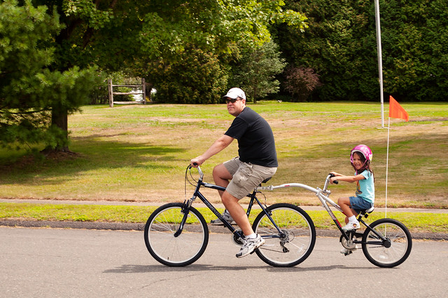 Mark & Audrey biking