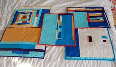 Finished placemats (jaceycraft) Tags: solids 40 37 36 fos 39 38 placemats completion 60blocksofsummer jaceycraft ftlos