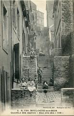 """E. S. 120. Boulogne-sur-Mer. Quartier des Marins. Rue dite des """"108"""" (undated)"""