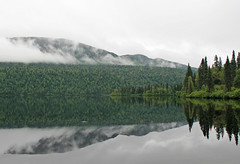 Byers Lake (jerseygal2009) Tags: trees lake mountains reflection nature water alaska clouds forest view scenic ak trail conifers byerslake