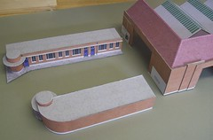 Kit building sequence photos 11 (kingsway john) Tags: building bus london scale st construction model garage transport models card kit oo gauge diorama kingsway staines 176 constructional londontransportmodel