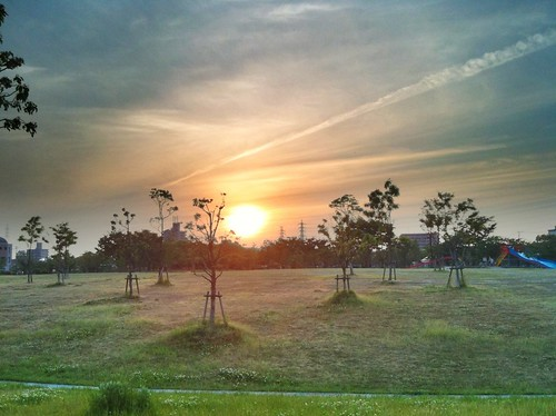 夕陽 ProHDRで撮影。