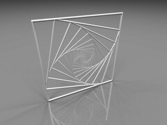 Flat Spiral (fdecomite) Tags: square spiral math povray