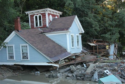 Damage after Hurricane Irene