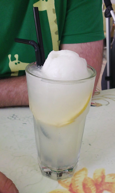 lemon sorbet float