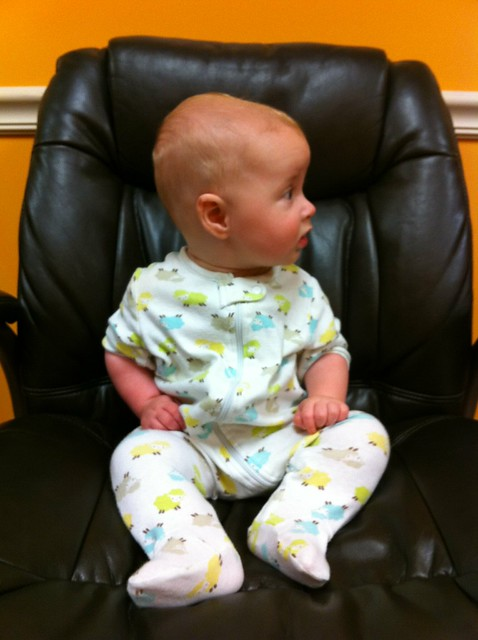 George at the endocrinologist.