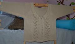 Lorna cardigan knit with Woolganic DK