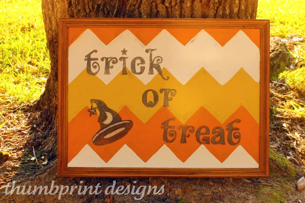 trick or treat chevron thumbprint