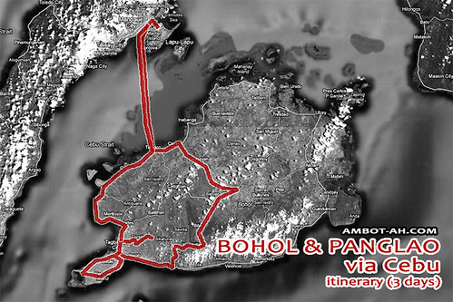Bohol Itinerary Map