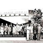 Recibimiento de Gonzalo Mejía a un avión de American World Airways thumbnail
