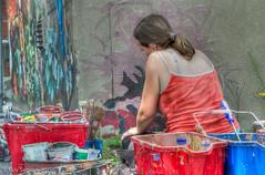 Artiste au travail / Artist At Work (guysamsonphoto) Tags: artist painter nikkor50mmf18 hdr artiste peintre nikond7000 guysamson