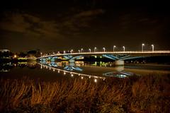 Senghor by night... face. (Olivier_G44) Tags: pont nuit nantes leopold sedar senghor