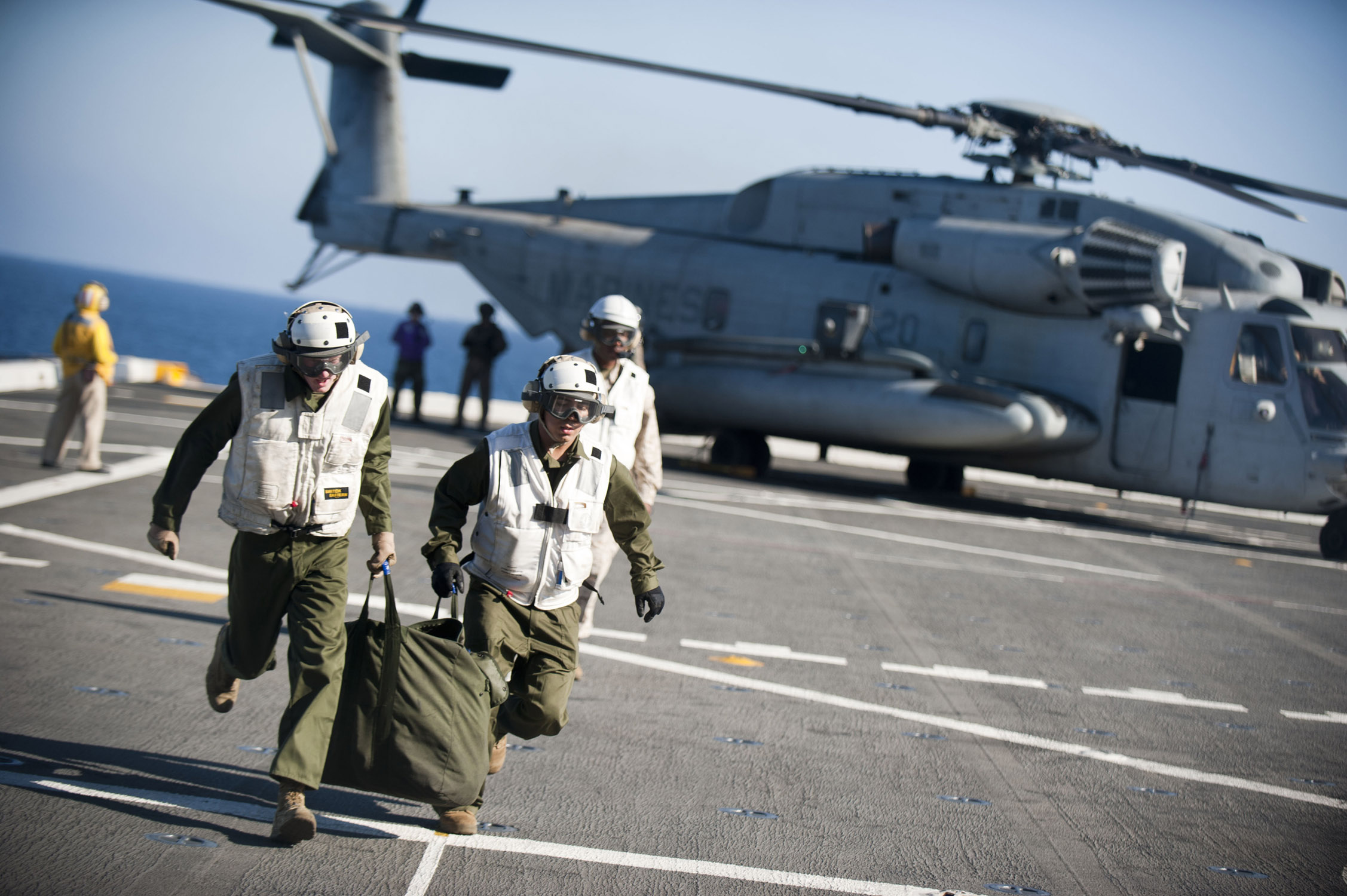 11th Marine Expeditionary Unit (MEU) embarks the USS New Orleans (LPD 18) Sept. 3