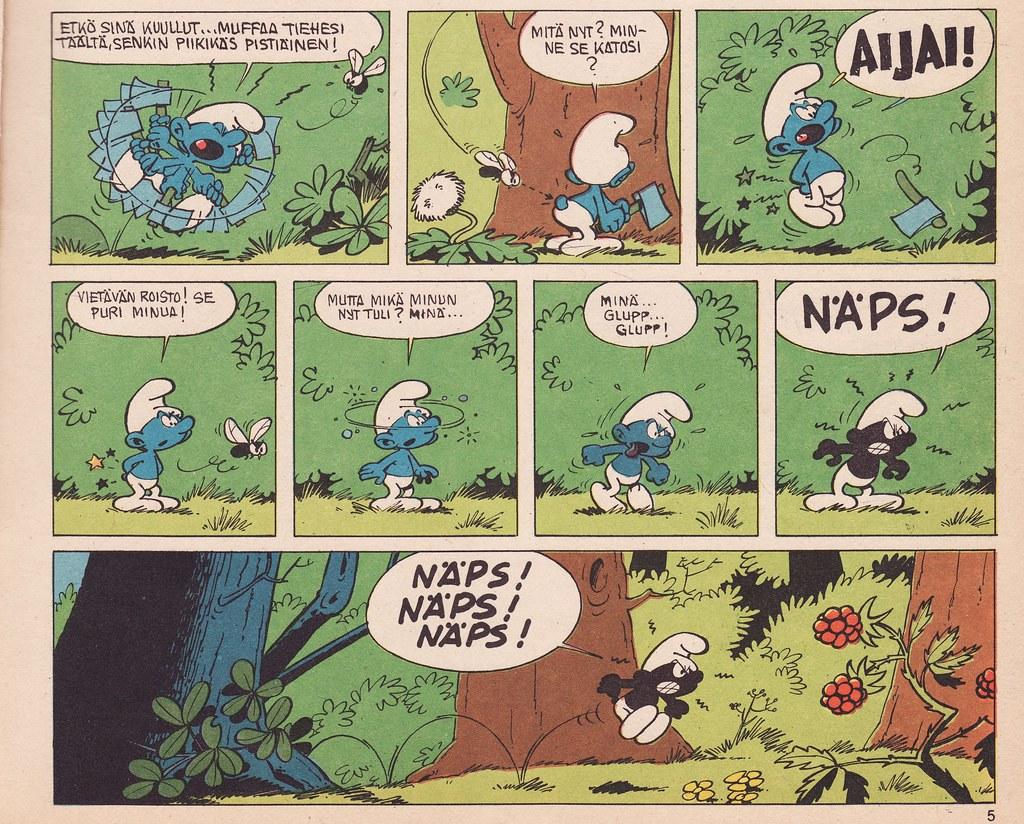 Origin of black Smurfs.