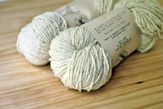 2 Skeins of Marr Haven Merino Ramboulette Undyed Wool