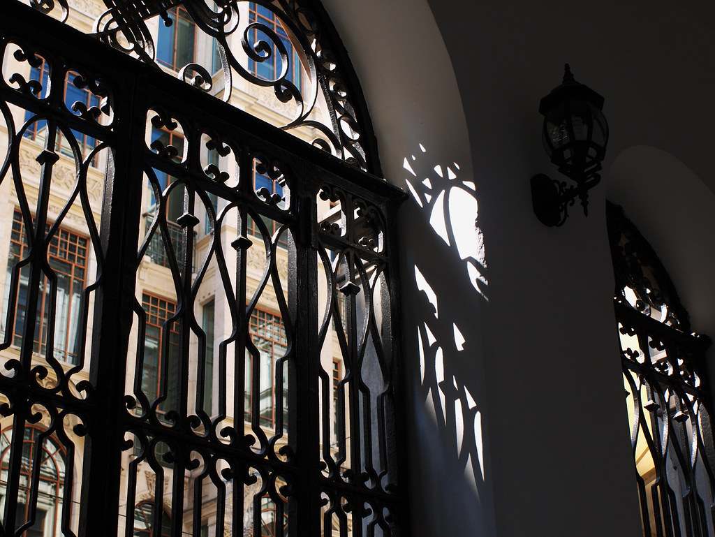 Iron grille gate, Santa Maria church, İstiklal