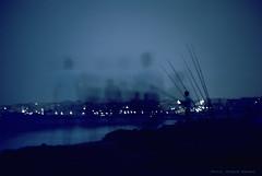 Les Noctambules du bord de mer (Franck Baduel) Tags: mer nuit plage filtre nd8