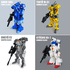 Mecha Classes roundup (Fredoichi) Tags: lego space military police walker micro mecha mech microscale fredoichi gundamtype patlabortype