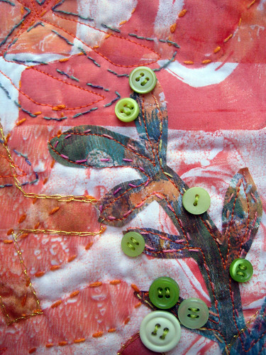 green button bush ~ detail
