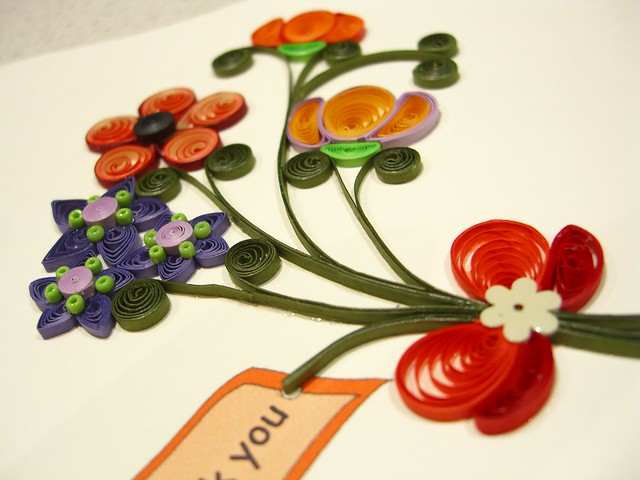 Quilling card from A. Diana