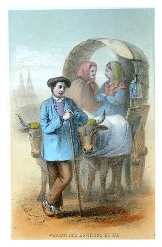 005-campesino de los alrededores de Pau-Costumes pyrénéens-1860