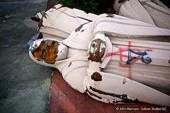 Gotham's Fall - Six Flags New Orleans (reallocalcelebrity) Tags: sky abandoned statue louisiana decay neworleans batman amusementpark sixflags gotham ef2470mmf28lusm gothamcity sixflagsneworleans jazzland subism sixflagsjazzland