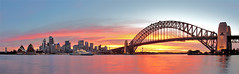 Sydney sundown (Luke Tscharke) Tags: sunset panorama orange water skyline geotagged purple harbour sydney cbd operahouse harbourbridge kirribilli geo:lat=33850584436138554 geo:lon=15121568188115077