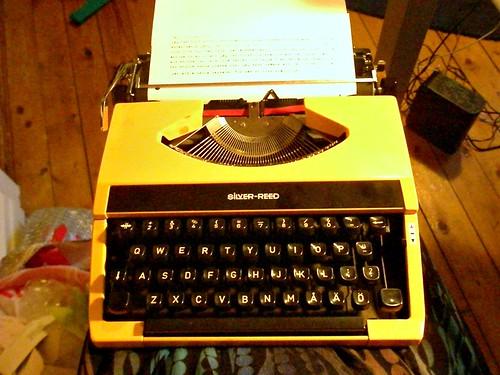 Min nya japanska skrivmaskin