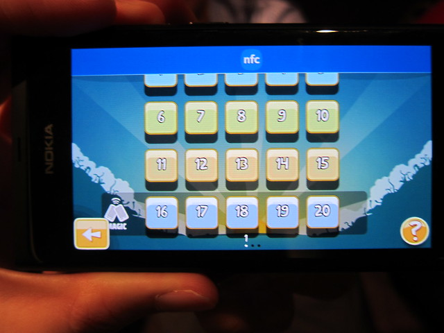 Unlocking Levels In Angry Birds Magic Using NFC