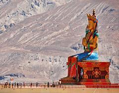 Giant statue of Maitreya at Diskit (lightmeister) Tags: india leh ladakh