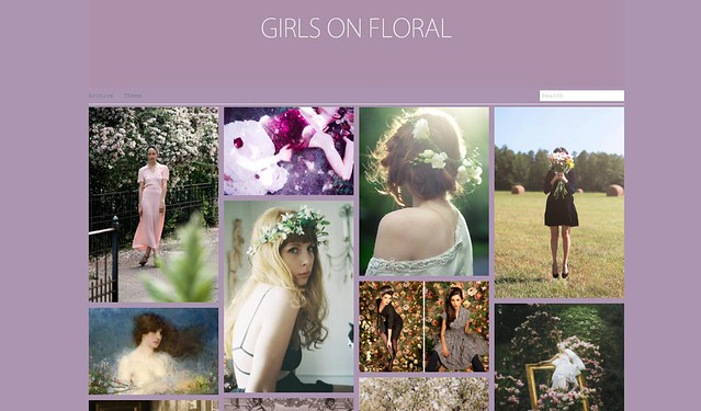 girls on floral